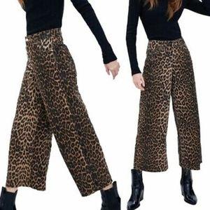 Zara trf collection culotte mid rise 4 raw hem NWT